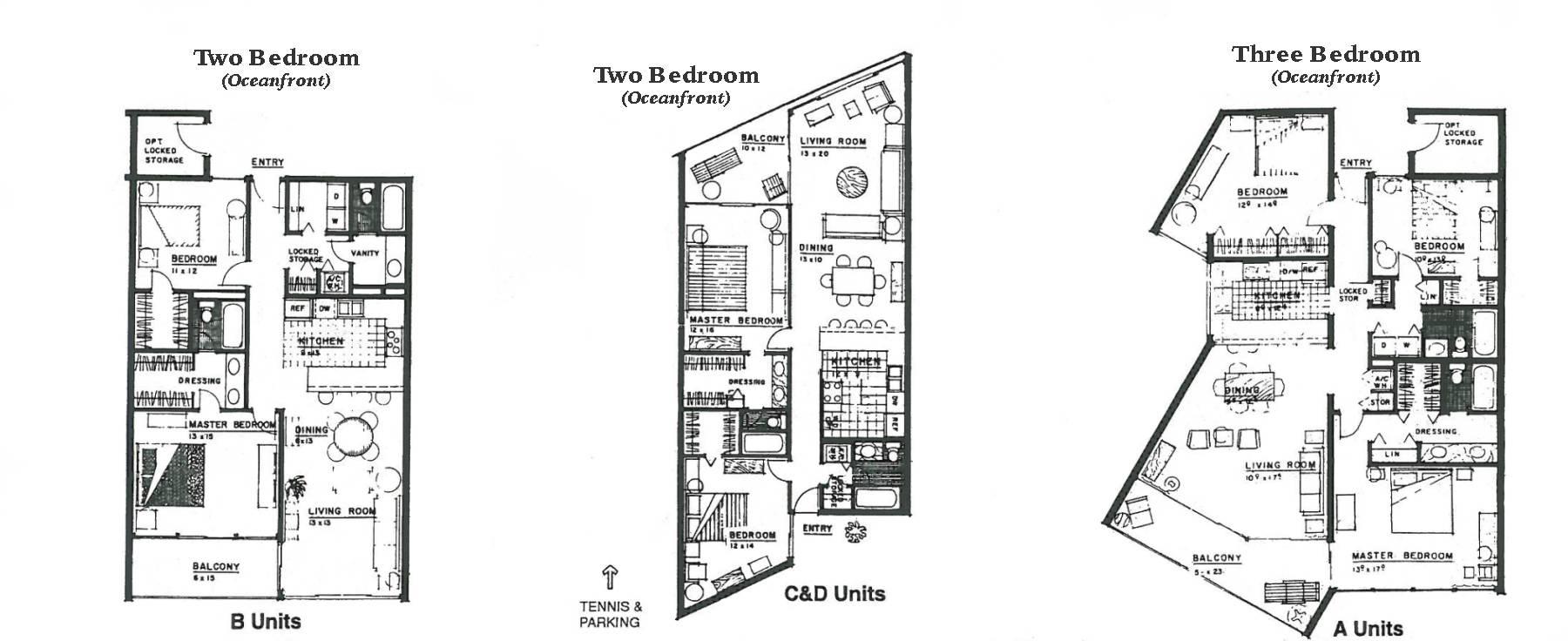 Anastasia Condo Floorplans